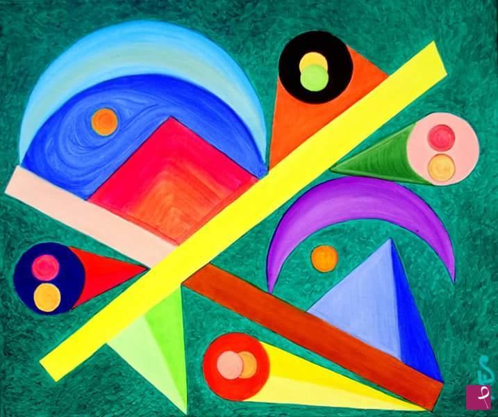 astratto geometrico 3 50x60cm 83730 - astratto-geometrico-3-50x60cm-83730